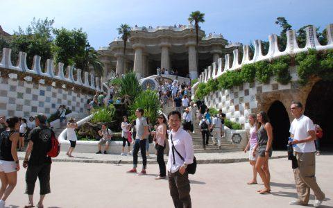 Gaudi's Mosaic Park, Barcelona, Spain